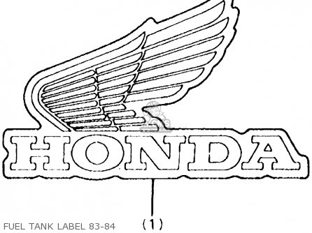 Honda Atc250r 1984 (e) Usa parts list partsmanual partsfiche