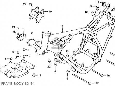 Honda Atc250r 1984 Usa parts list partsmanual partsfiche