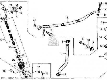 Honda Atc250r 1986 (g) Usa parts list partsmanual partsfiche