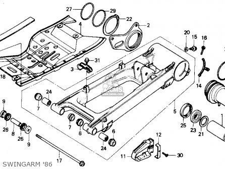 Honda Atc250r 1986 Usa parts list partsmanual partsfiche