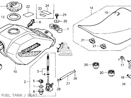 Honda Atc250sx 1985 (f) Usa parts list partsmanual partsfiche