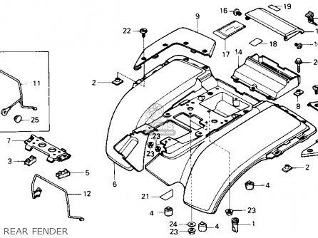 Honda Atc250sx 1985 Usa parts list partsmanual partsfiche