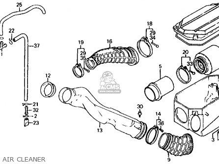 Honda ATC350X 1986 (G) USA parts lists and schematics