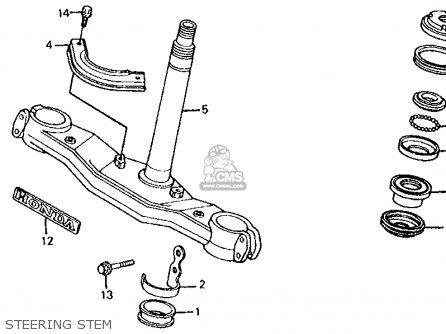 Honda Atc350x 1986 (g) Usa parts list partsmanual partsfiche