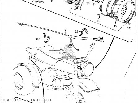 Honda ATC70 1973 USA parts lists and schematics
