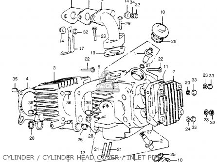 Honda Atc70 1974 Atc70k1 Usa parts list partsmanual partsfiche
