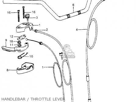 Honda ATC70 1974 ATC70K1 USA parts lists and schematics
