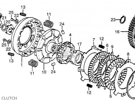 Honda Atc70 1978 Usa parts list partsmanual partsfiche