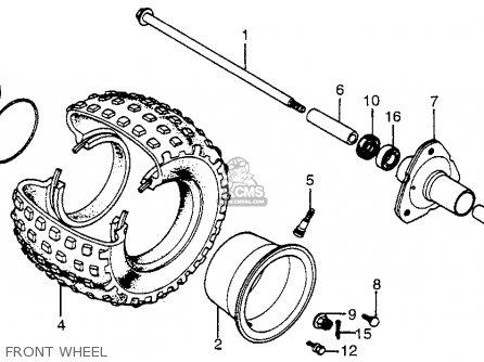 Honda Atc70 1979 (z) Usa parts list partsmanual partsfiche