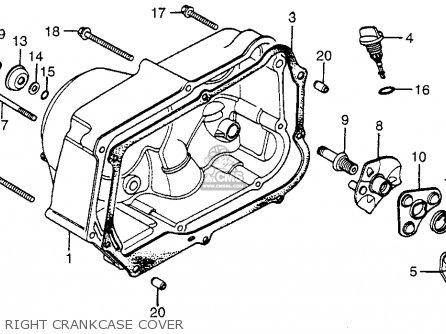 Honda Atc70 1981 (b) Usa parts list partsmanual partsfiche