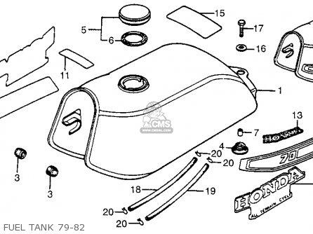 Honda Atc70 1982 (c) Usa parts list partsmanual partsfiche