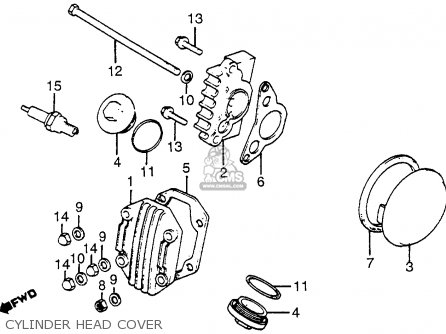 Honda Atc70 1983 (d) Usa parts list partsmanual partsfiche