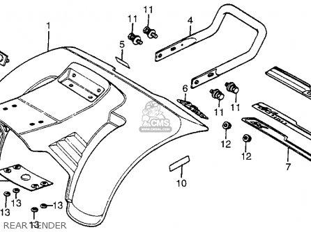 Honda ATC70 1984 (E) USA parts lists and schematics