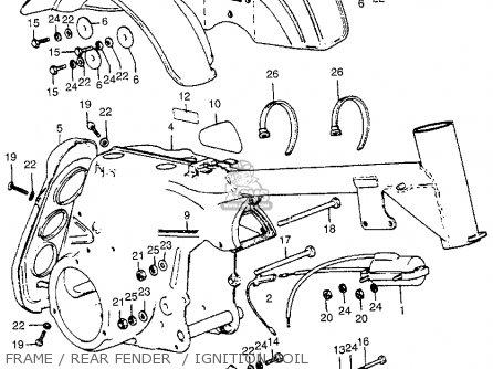 Honda Atc70 K1 Usa parts list partsmanual partsfiche