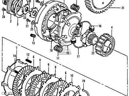 Honda Atc90 1976 Usa parts list partsmanual partsfiche