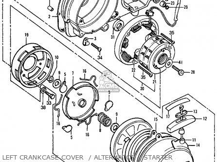 Honda ATC90 1977 USA parts lists and schematics
