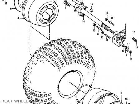 Honda ATC90 1977 USA parts lists and schematics