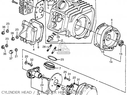 Honda Atc90 K1 1972 1973 Usa parts list partsmanual partsfiche