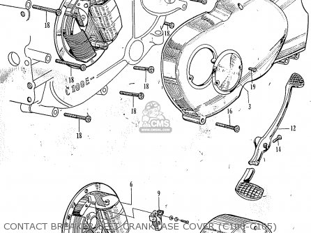 Honda C100 General Export parts list partsmanual partsfiche