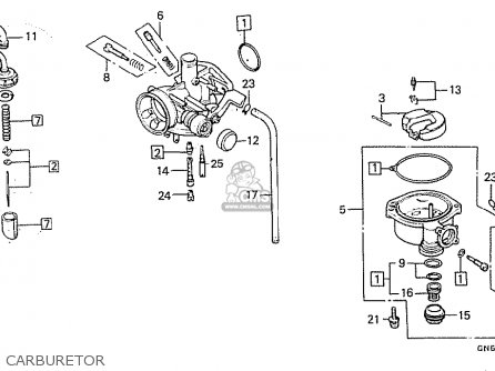 Honda C100m2 Astrea Indonesia parts list partsmanual