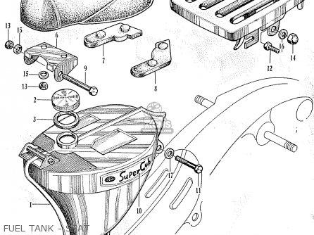 Honda C102 WORLDWIDE EXCEPT USA parts lists and schematics
