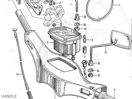 Honda C105 Worldwide Except Usa parts list partsmanual