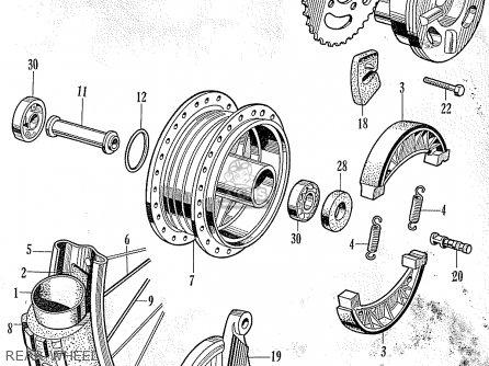 Honda C105 WORLDWIDE EXCEPT USA parts lists and schematics