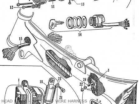 Honda C110 parts list partsmanual partsfiche