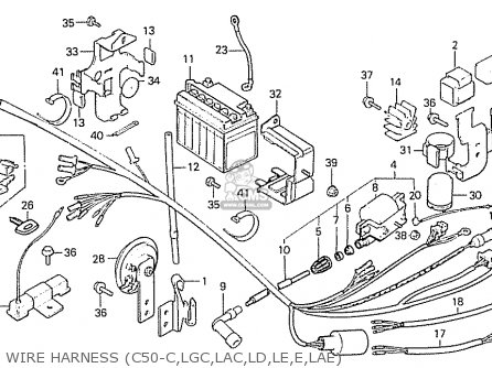 Honda C50 1982 (c) England parts list partsmanual partsfiche