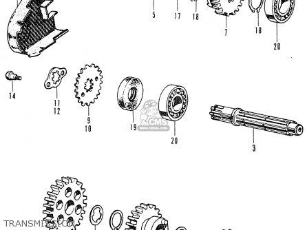 Honda C50 CUB 1969 ENGLAND parts lists and schematics