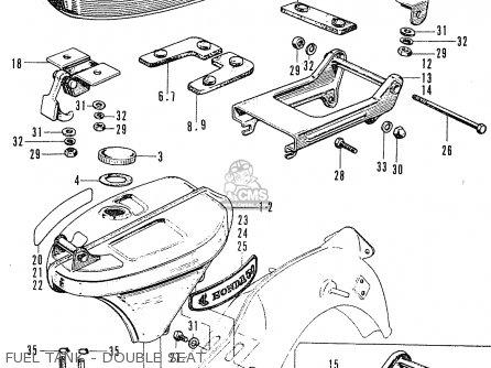 Honda C50 Cub 1969 France parts list partsmanual partsfiche