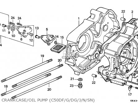 Honda C50 Cub 1988 Greece parts list partsmanual partsfiche