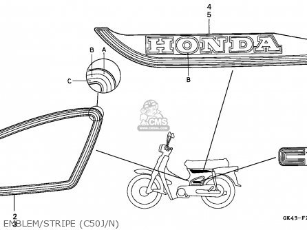 Honda C50 Cub 1988 (j) Greece parts list partsmanual