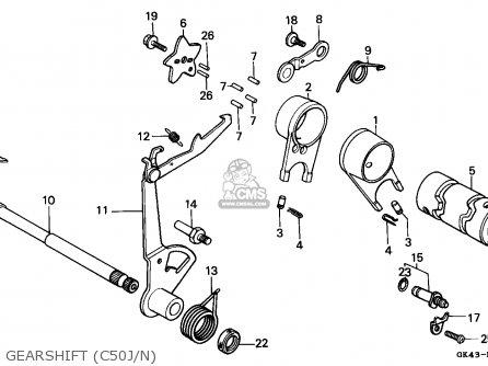 Honda C50 CUB 1988 (J) GREECE parts lists and schematics