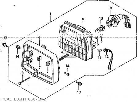 Ignition Wiring Diagram 1981 Honda C70. Honda. Auto Wiring