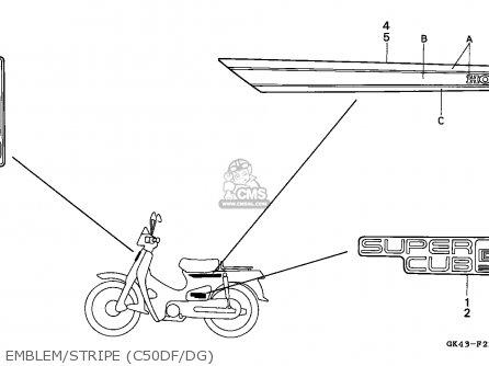 Honda C50d Cub 1985 (f) Vietnam parts list partsmanual