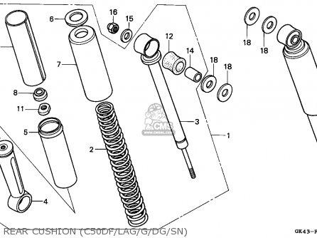 Honda C50D CUB 1985 (F) VIETNAM parts lists and schematics