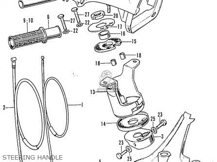 Honda C50k1diii General Export parts list partsmanual