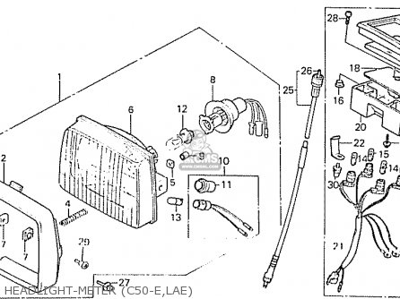 Honda C50la Cub 1984 (e) England parts list partsmanual