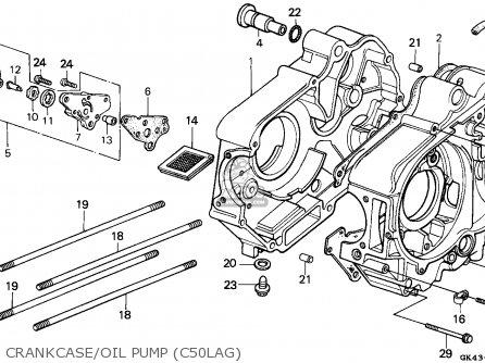 Honda C50la Cub 1986 (g) England parts list partsmanual