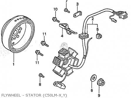 Honda C50lmy Little Cub (japan) parts list partsmanual