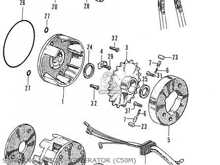 Honda C50m France parts list partsmanual partsfiche