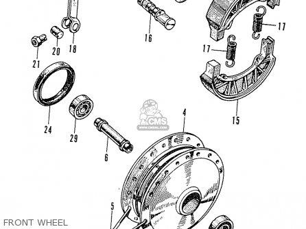 Honda C50m General Export parts list partsmanual partsfiche