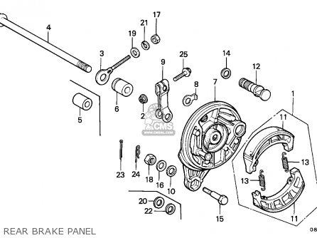 Honda C50z Cub 1977 General Export / Kph Ms parts list
