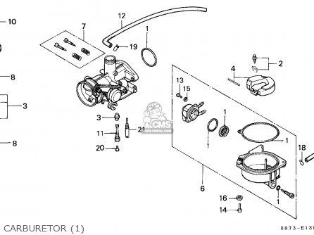 Honda C50z2 Cub 1993 (p) General Export / Kph parts list