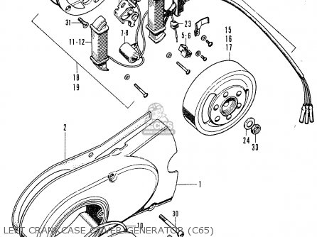 Honda C65 General Export parts list partsmanual partsfiche