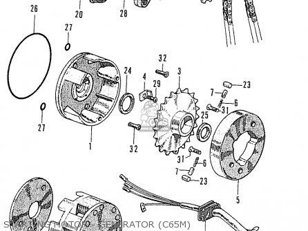 Honda C65M 1976 GENERAL EXPORT parts lists and schematics