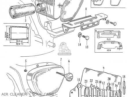 Honda C70 C71 Cs71 Dream (general Export Model) parts list