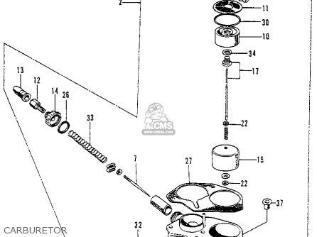 Honda C70 Honda 70 K1 1972 Usa parts list partsmanual