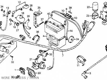 Honda C70 Passport 1980 (a) Usa parts list partsmanual